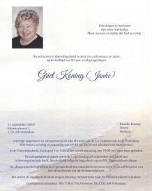 3441 Griet Koning (Janke) - rouwkaart