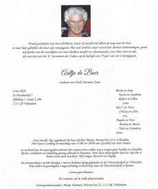 3529 Alida de Boer - rouwkaart
