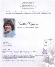 3532 Martine Negeman - rouwkaart