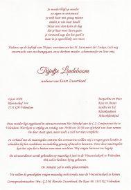 3542 Trijntje Lindeboom - rouwkaart