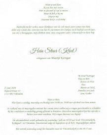 3550 Hein Steur (Kriel) rouwkaart