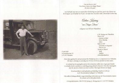 3555 Anton Koning - rouwkaart