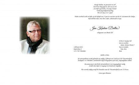3646 Jan Keuken (Dulles) - rouwkaart online versie