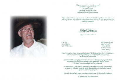 3681 Karel Bermon - Rouwkaart