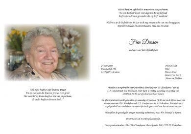 3704 Fien Dassen -rouwkaart