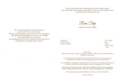 Rina Tuip - rouwkaart 3680