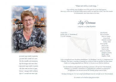 Rouwkaart Lidy Karsten