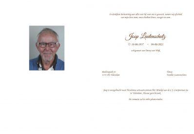 rouwtekst Joop Lautenschutz